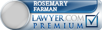 Rosemary Anne Farman  Lawyer Badge
