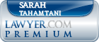Sarah Tahamtani  Lawyer Badge