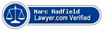 Marc Christopher Hadfield  Lawyer Badge