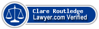 Clare Graham Routledge  Lawyer Badge