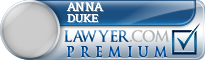 Anna Duke  Lawyer Badge