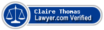 Claire Elizabeth Thomas  Lawyer Badge