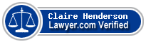 Claire Emma Henderson  Lawyer Badge