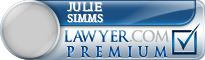 Julie Simms  Lawyer Badge