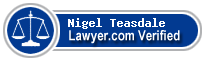 Nigel John Teasdale  Lawyer Badge