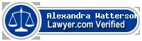 Alexandra Voirrey Watterson  Lawyer Badge