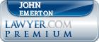 John Alan Thomas Haslam Emerton  Lawyer Badge