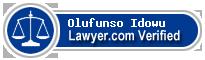 Olufunso Akinwale Omoyele Idowu  Lawyer Badge