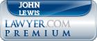 John Harold Merlin Frank Lewis  Lawyer Badge