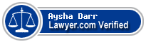Aysha Darr  Lawyer Badge