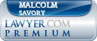 Malcolm Doggett Savory  Lawyer Badge
