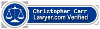 Christopher James Alexander Carr  Lawyer Badge