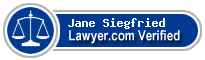 Jane Elizabeth Rose Siegfried  Lawyer Badge