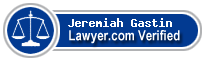 Jeremiah Brook Gastin  Lawyer Badge