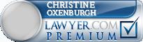Christine Sheila Oxenburgh  Lawyer Badge