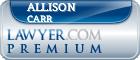 Allison Jane Carr  Lawyer Badge
