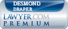 Desmond Draper  Lawyer Badge