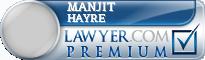Manjit Kaur Hayre  Lawyer Badge