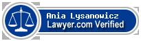 Ania Lysanowicz  Lawyer Badge