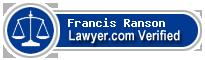 Francis Newman Charles Ranson  Lawyer Badge