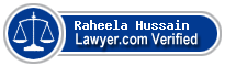 Raheela Hussain  Lawyer Badge