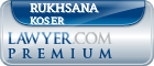 Rukhsana Koser  Lawyer Badge