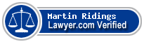 Martin David Ridings  Lawyer Badge
