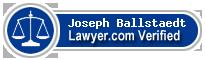Joseph Goddaeus Ballstaedt  Lawyer Badge