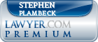Stephen W. Plambeck  Lawyer Badge