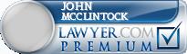 John C. Mcclintock  Lawyer Badge