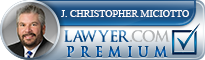J. Christopher Miciotto  Lawyer Badge
