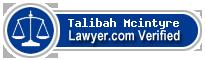 Talibah Mcintyre  Lawyer Badge