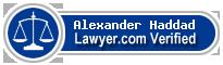 Alexander Sean Haddad  Lawyer Badge