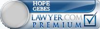 Hope Madonna Gebes  Lawyer Badge