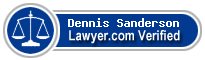 Dennis L. Sanderson  Lawyer Badge