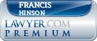 Francis M. Hinson  Lawyer Badge