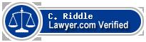 C. Dayton Riddle  Lawyer Badge