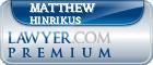 Matthew M. Hinrikus  Lawyer Badge