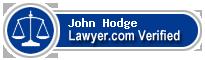 John Voyle Hodge  Lawyer Badge