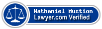 Nathaniel Jay Mustion  Lawyer Badge