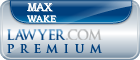 Max T. Wake  Lawyer Badge