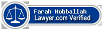 Farah Ali Hobballah  Lawyer Badge