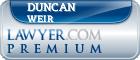 Duncan Peter Weir  Lawyer Badge