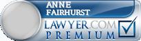 Anne Patricia Fairhurst  Lawyer Badge