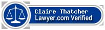 Claire Elizabeth Thatcher  Lawyer Badge
