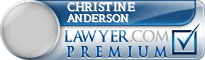 Christine Mary Anderson  Lawyer Badge