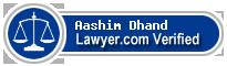Aashim Dhand  Lawyer Badge