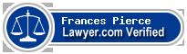 Frances Pierce  Lawyer Badge