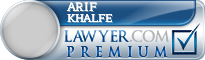 Arif Kassam Khalfe  Lawyer Badge