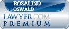 Rosalind Amanda Jennie Oswald  Lawyer Badge
